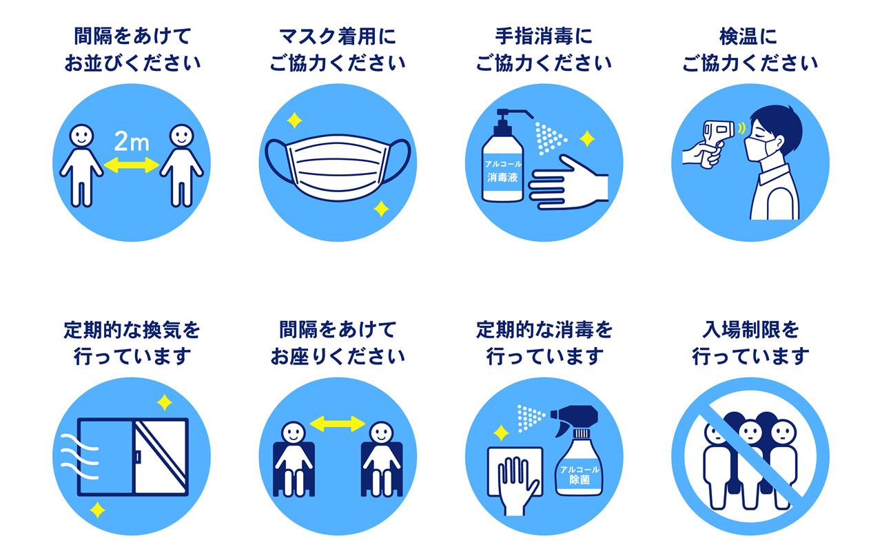 コロナウイルス感染予防対策ポスター
